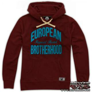 EBH6 Old Imperial Brand Burgundy/Sky Blue