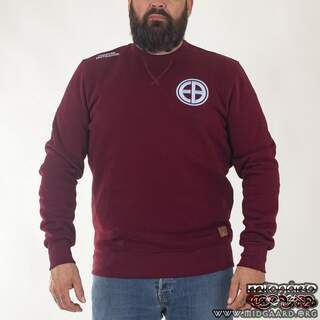 "EBC8 Sweatshirt ""Shield"" – Burgundy"