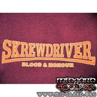 C-75 Skrewdriver 'Blood & Honour' Röd