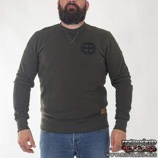"EBC8 Sweatshirt ""Shield"" – Army Green"