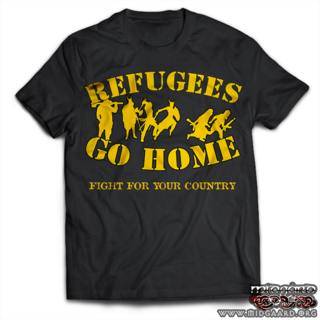 T-113 Refugees go home! Black