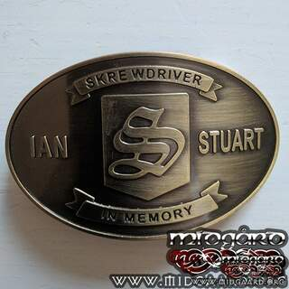 Belt buckle Ian Stuart in memory