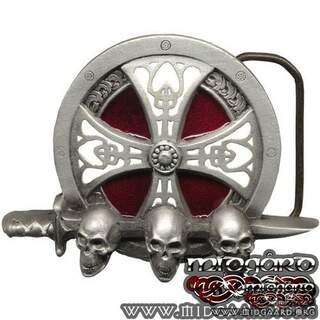 Belt buckle Nordic shield
